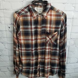 Abercrombie Plaid long sleeve XS